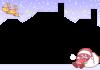 クリスマス・女の子サンタと逃走トナカイのフレーム2【透過PNG】