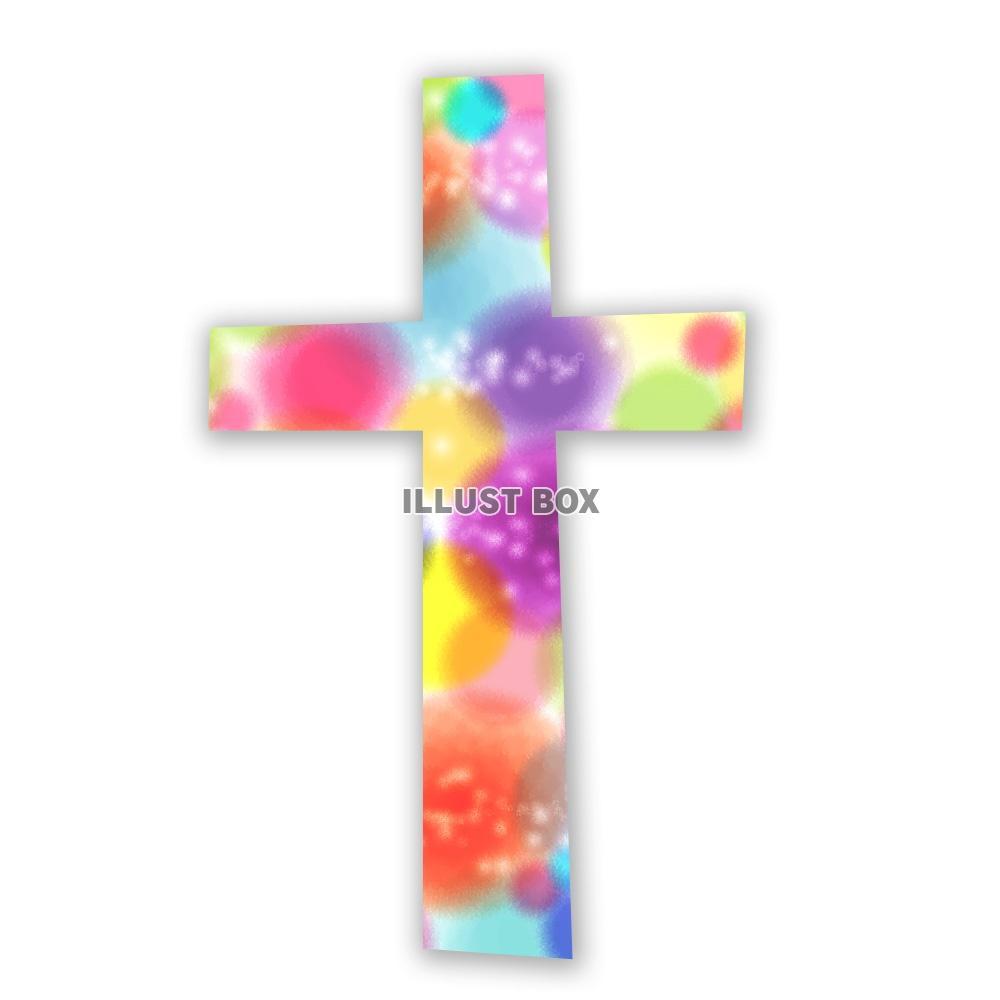 クリスマスアイテム 切り絵風 十字架 : イラスト無料