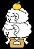 親子羊の鏡餅