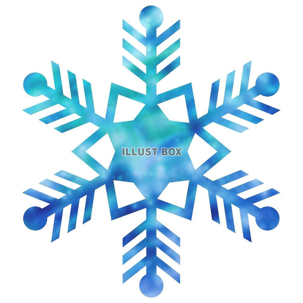 無料イラスト ワンポイントイラスト雪の結晶 001