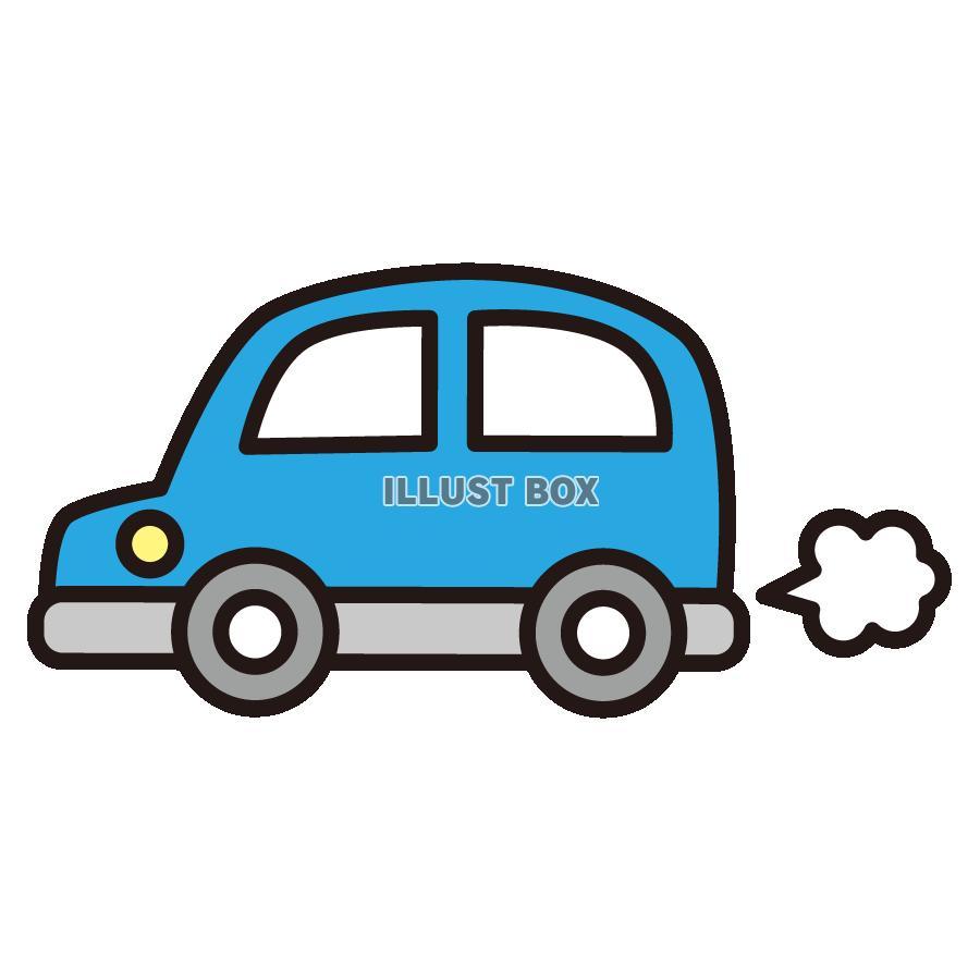 無料イラスト 青の自動車