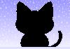 冬・猫の形のフレーム【透過PNG】