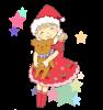 クリスマスを楽しむ女の子 《透過PNG》