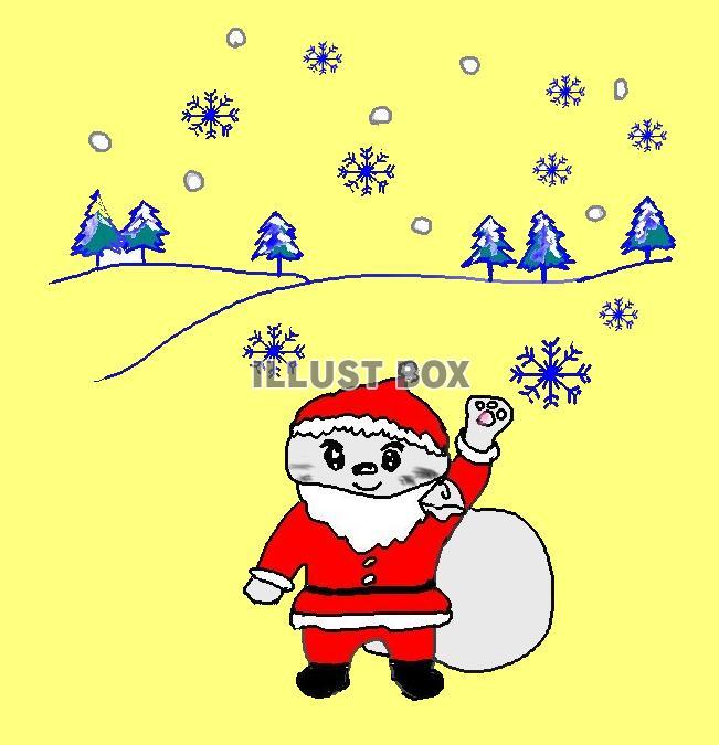 ねこまる・・サンタになる【透過】PNG