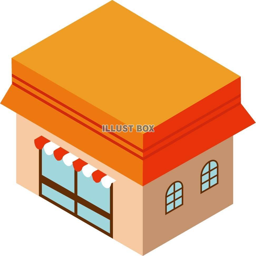 無料イラスト オレンジのお店