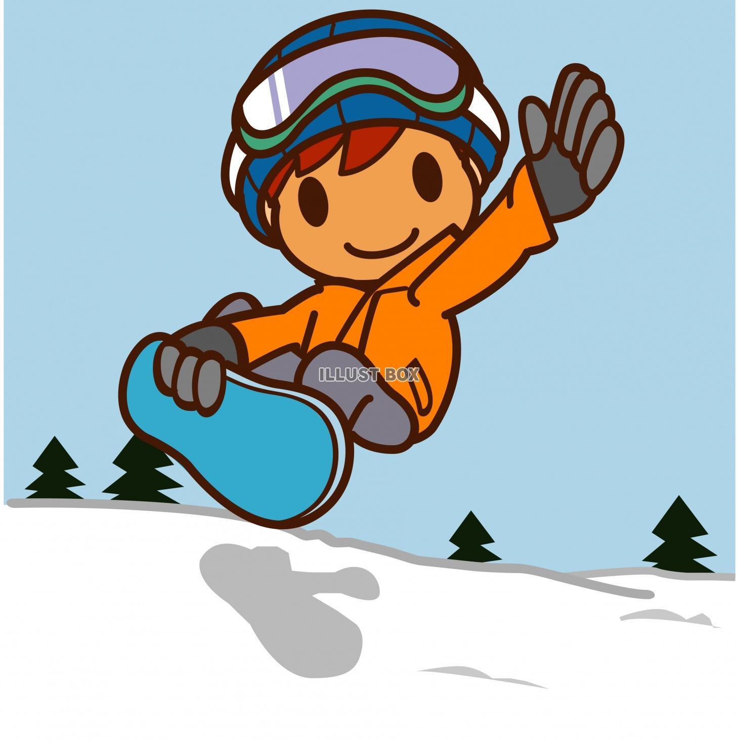 無料イラスト スノーボード