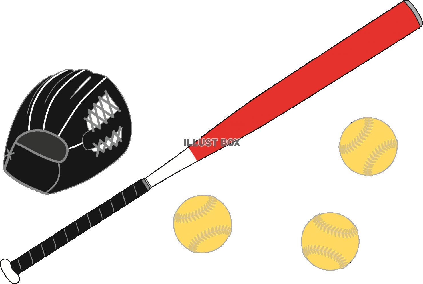 無料イラスト ソフトボールのイラスト 透過png