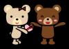 バレンタインプレゼントをあげるクマ2 (透過PNG)