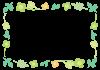 クローバーと葉っぱのフレーム 透過PNG