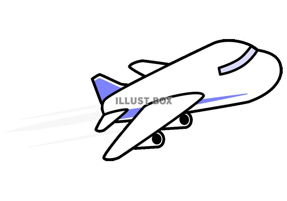 シンプルな飛行機【透過PNG】