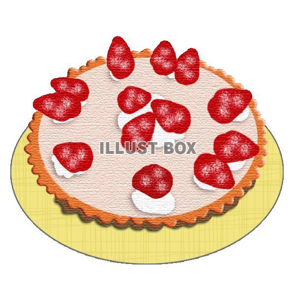 無料イラスト 苺のレアチーズタルト