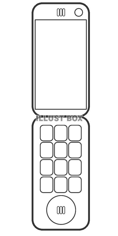 無料イラスト 透過pngシンプルな携帯電話のイラスト7