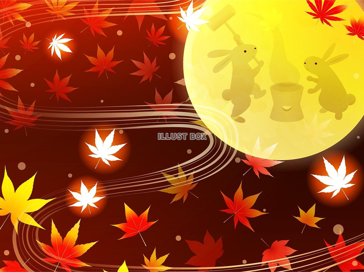 無料イラスト 秋・お月見の背景(png・cs4eps)