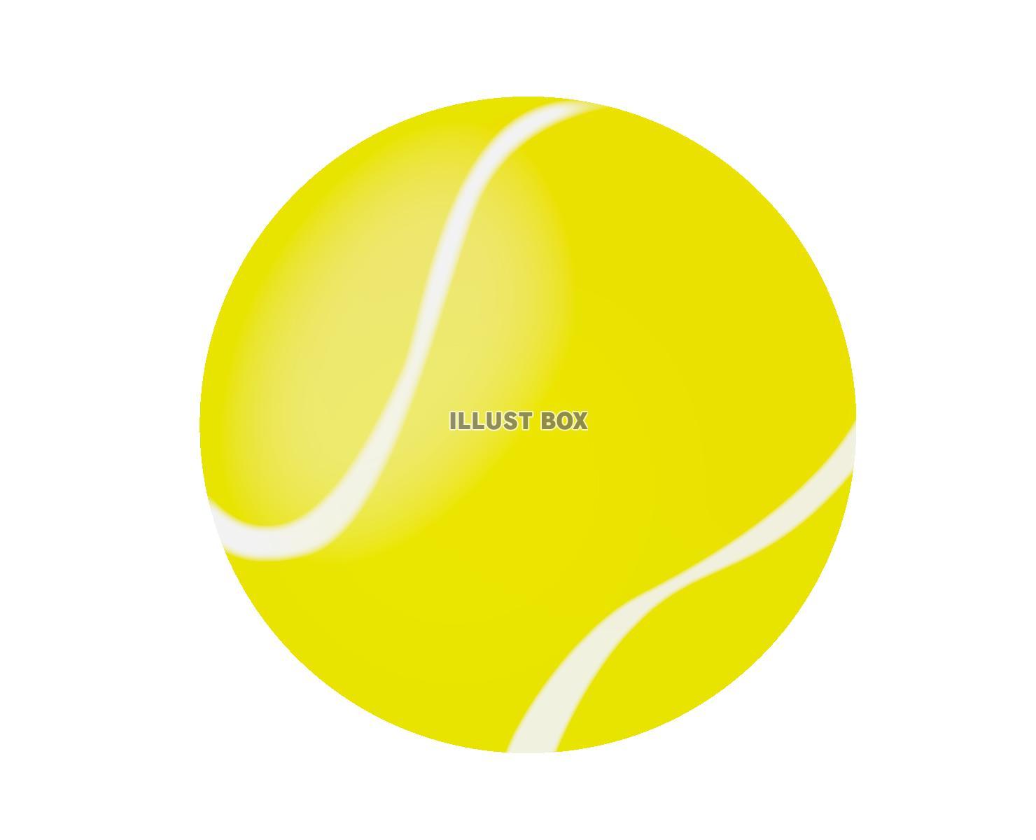 無料イラスト テニスボール