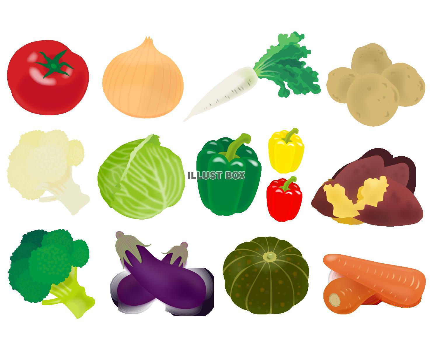 無料イラスト 野菜 イラストセット