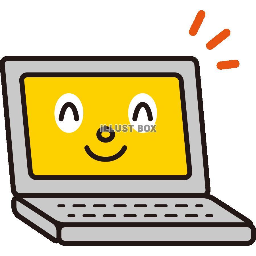 無料イラスト 安全対策&注意喚起のイラスト,pc,パソコン