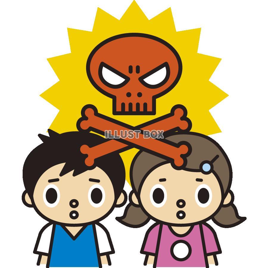無料イラスト 安全対策&注意喚起のイラスト,犯罪,子供,こども,子ども