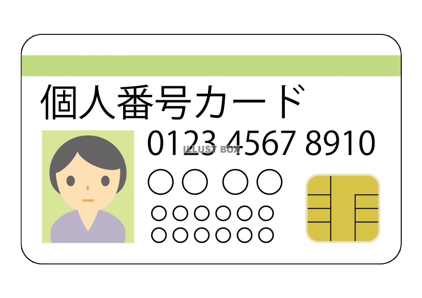 マイナンバーカードのサンプルイメージ