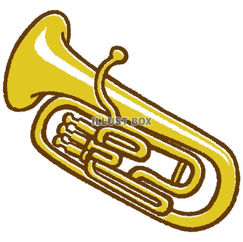 無料イラスト 金管楽器ユーフォニアム透過png