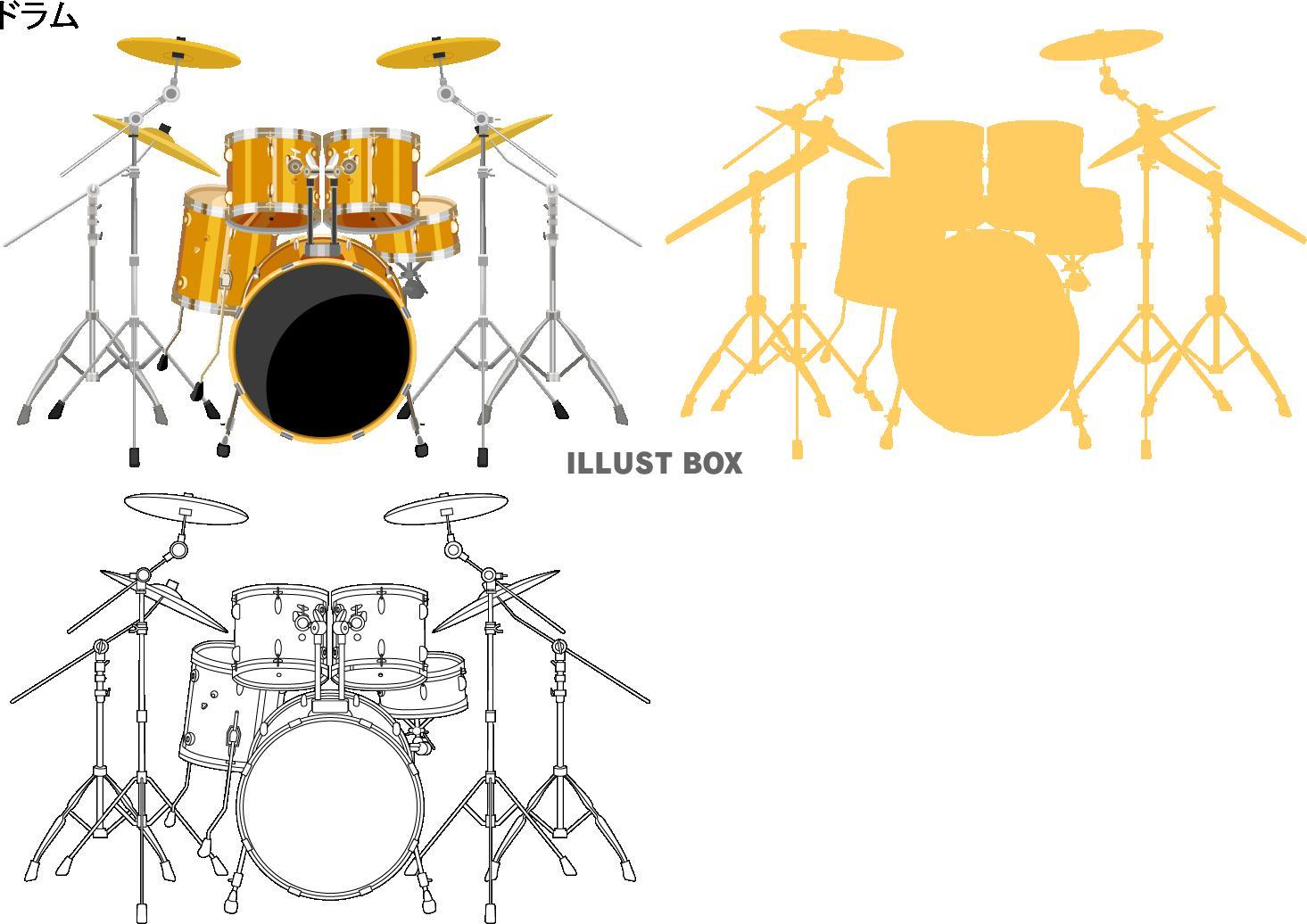 無料イラスト ドラム楽器アイコンpngcseps