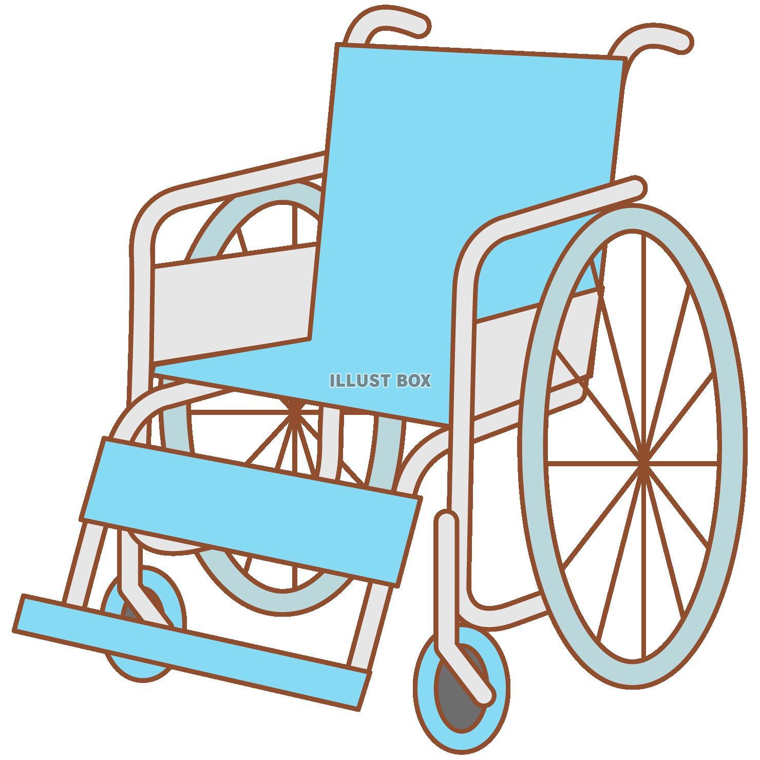 無料イラスト 車椅子(png・cseps)