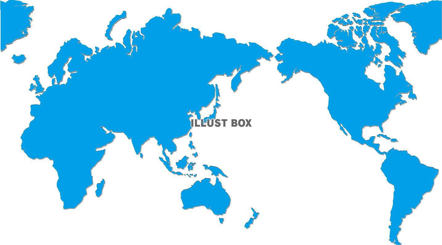 世界地図色付きのイラスト素材 イラスト無料かわいいテンプレート