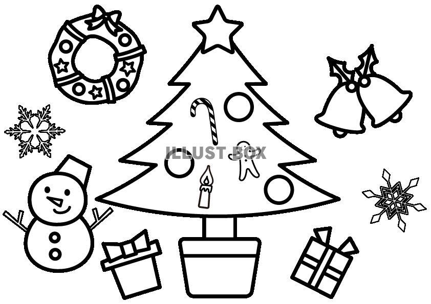 無料イラスト 塗り絵 クリスマス透過png