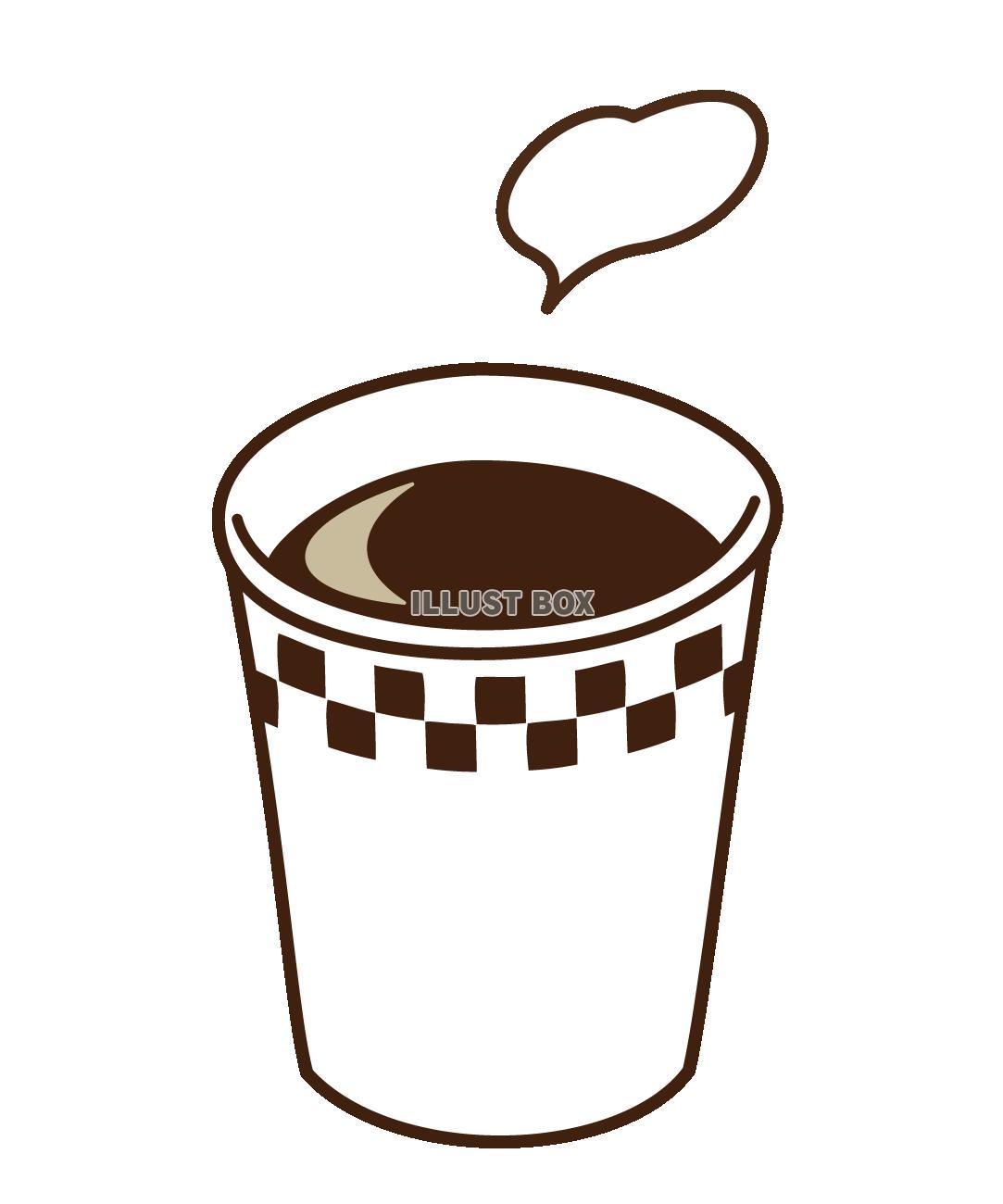 無料イラスト ホットコーヒー