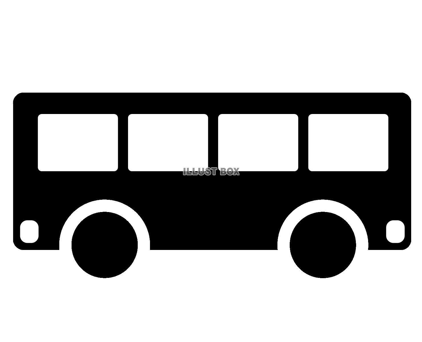 無料イラスト バス アイコン