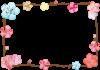 梅の花のフレーム4【透過PNG】