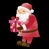 サンタとプレゼント 透過PNG