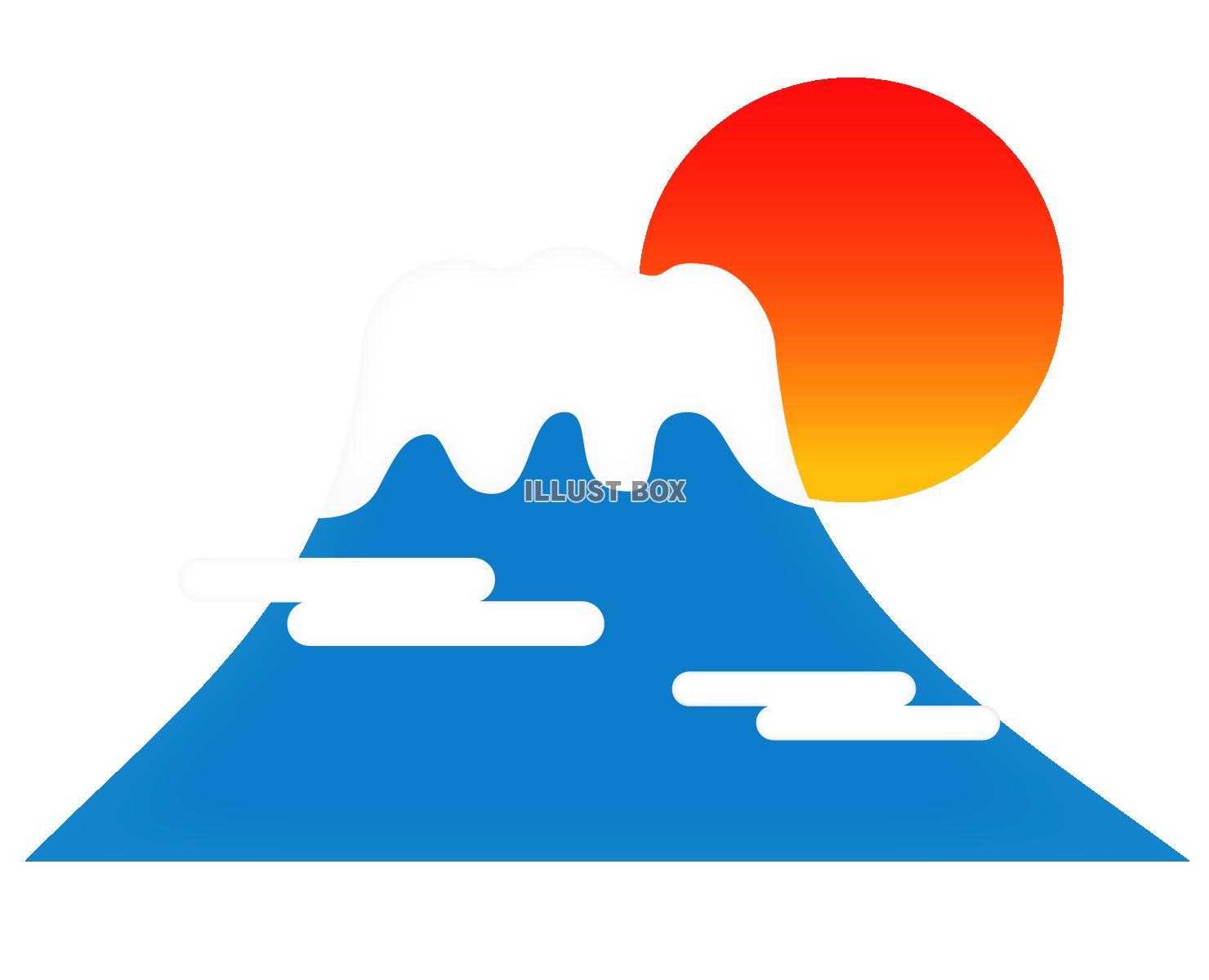 無料イラスト 富士山