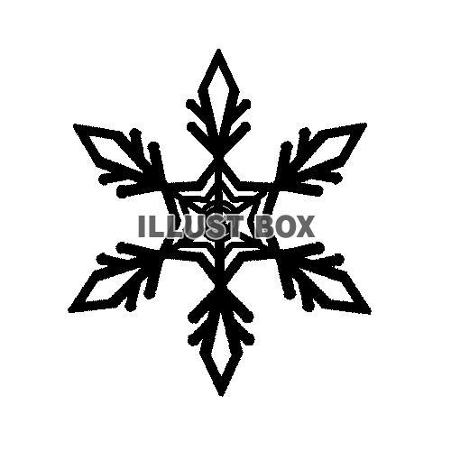 冬・雪の結晶の無料イラスト:イラストボックス