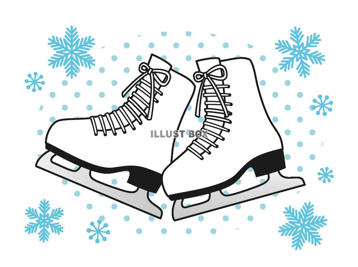 無料イラスト スケート靴