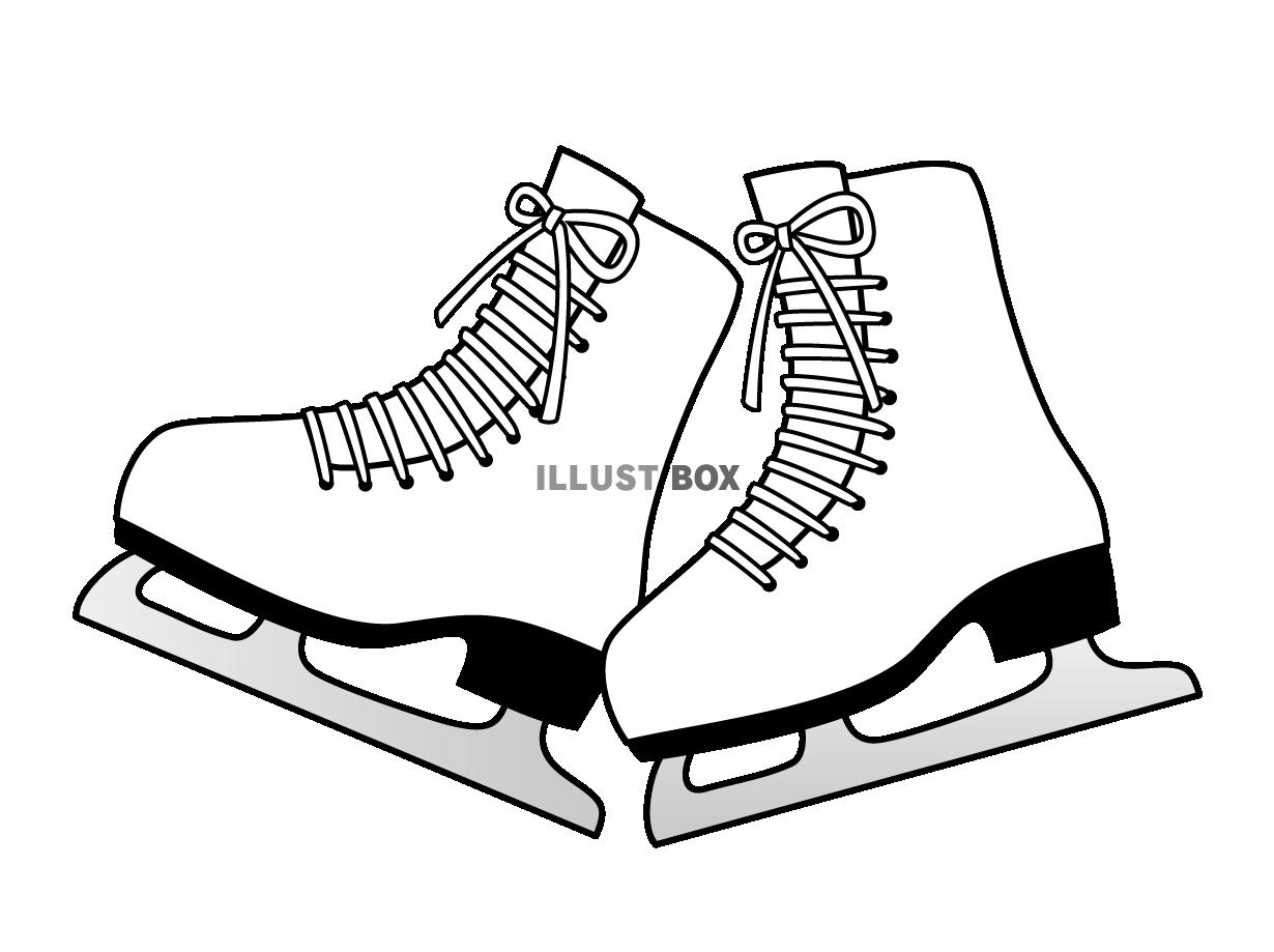 無料イラスト スケート靴(背景なし)