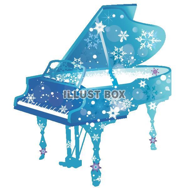 無料イラスト 雪のピアノイラスト透過png