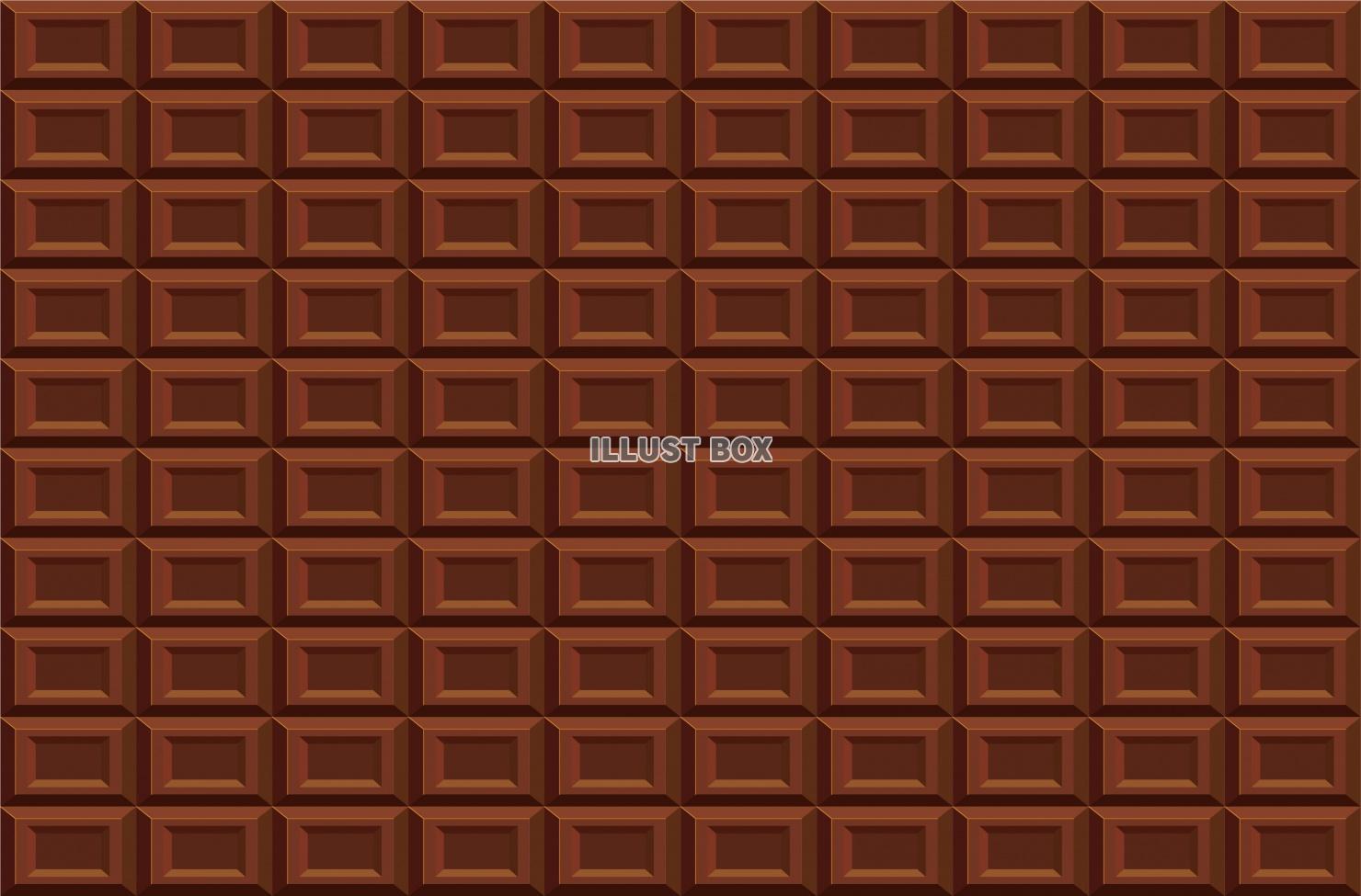 無料イラスト 板チョコレートの壁紙背景素材