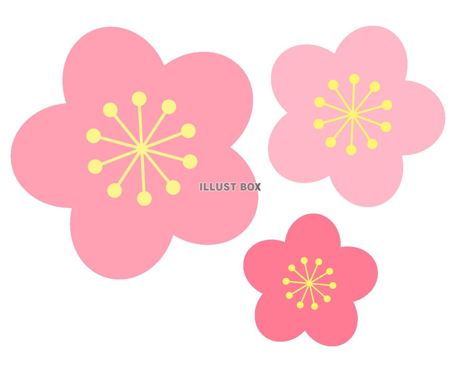 無料イラスト 桃の花
