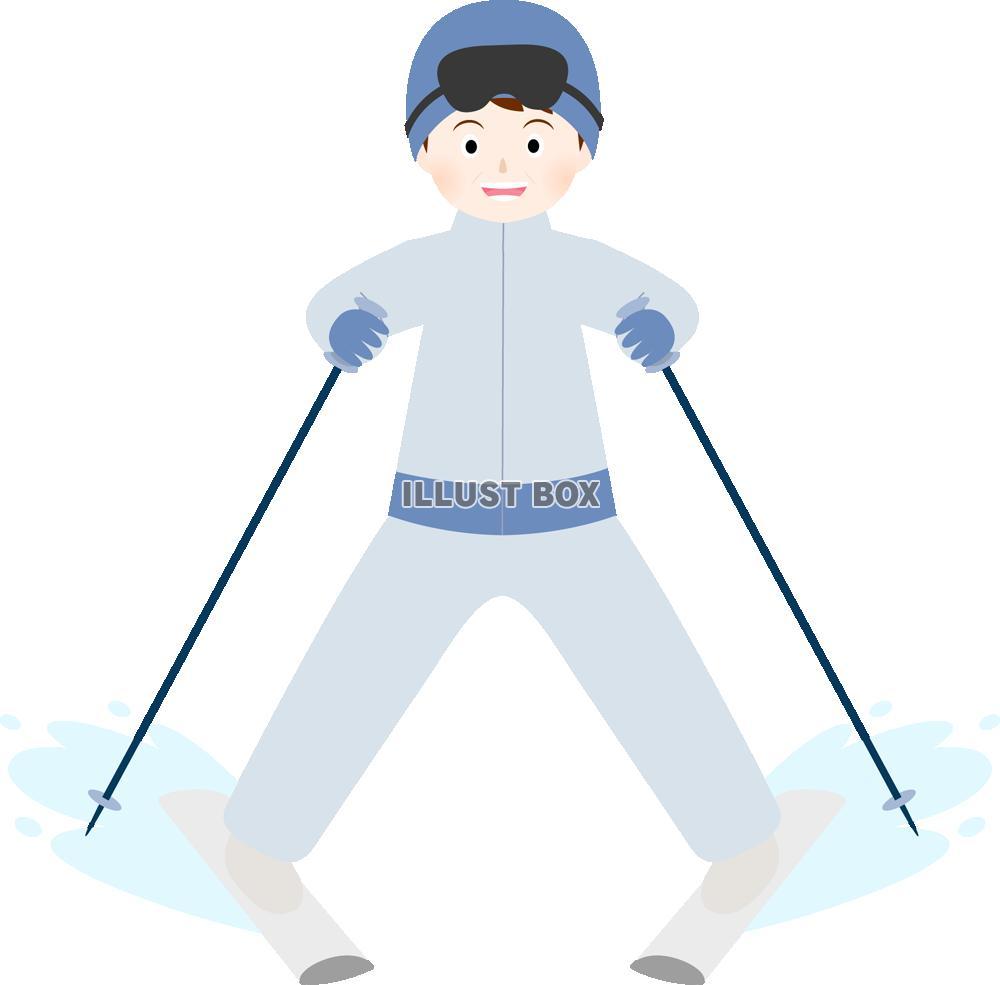 スキー イラスト 簡単