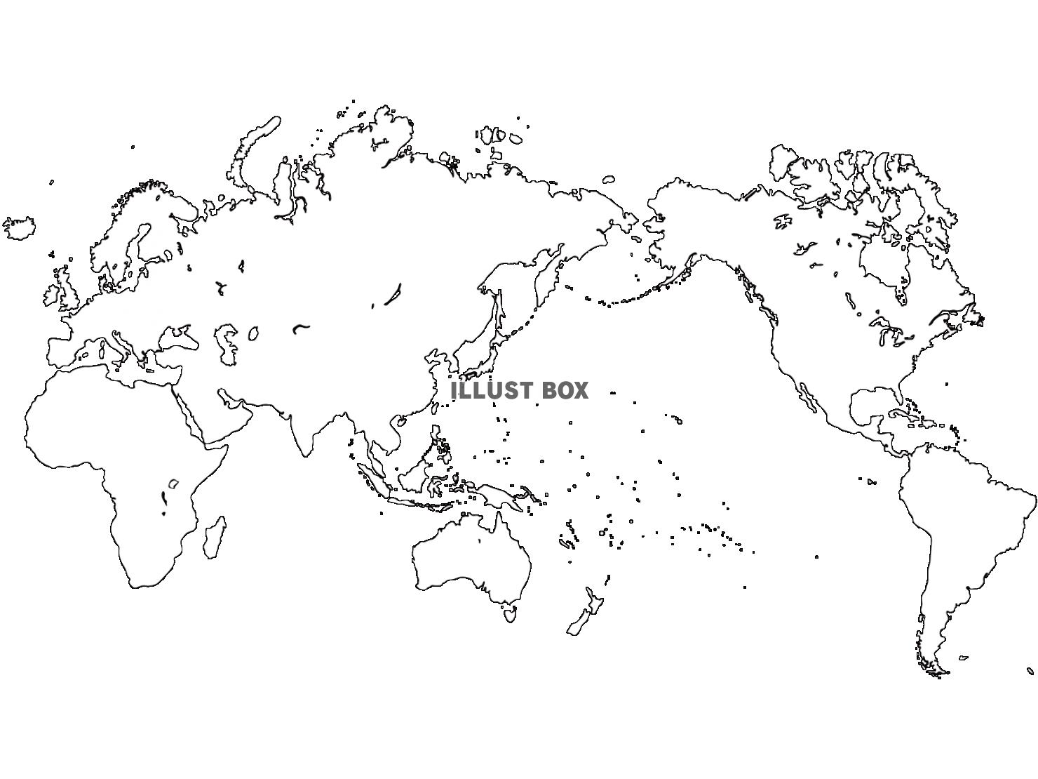 無料イラスト 世界地図pngcseps