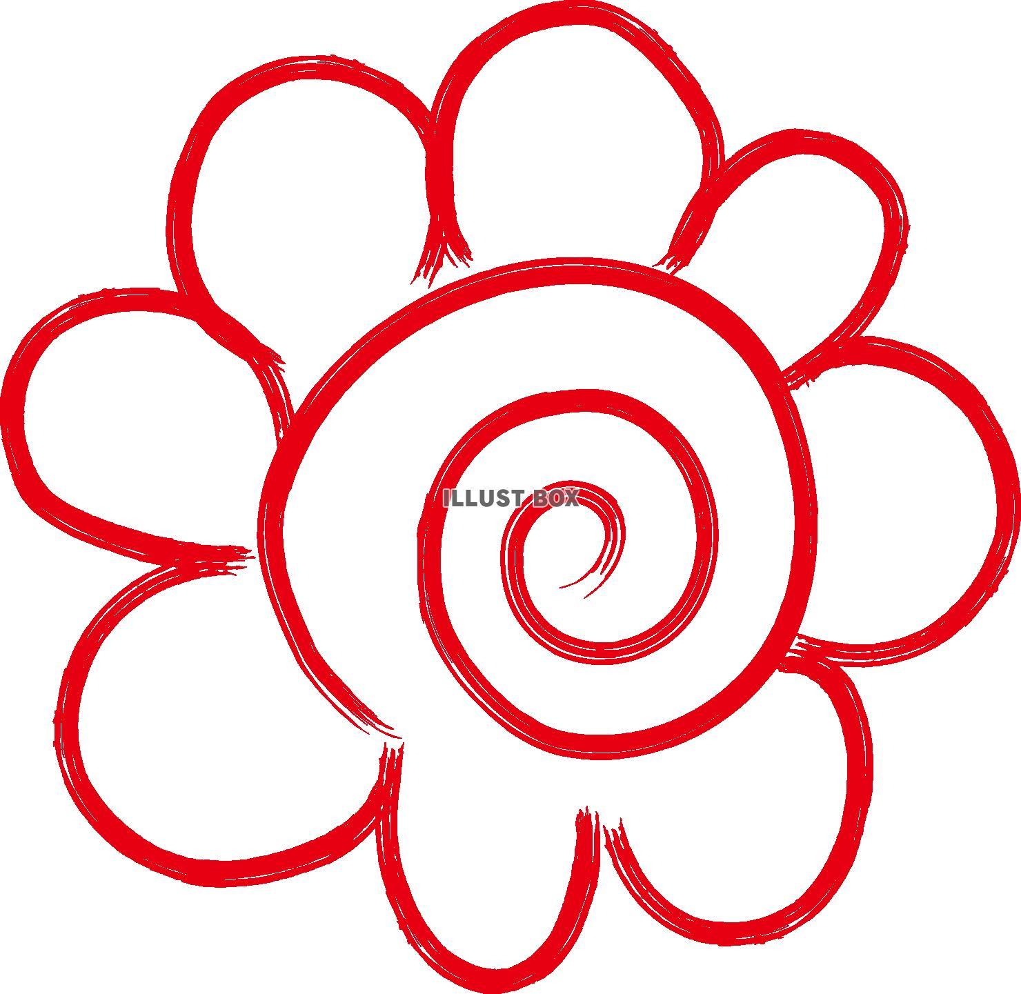 無料イラスト 【透過png画像データ】花丸(花まる・ハナマル・はなまる