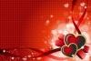 バレンタインハートの背景素材