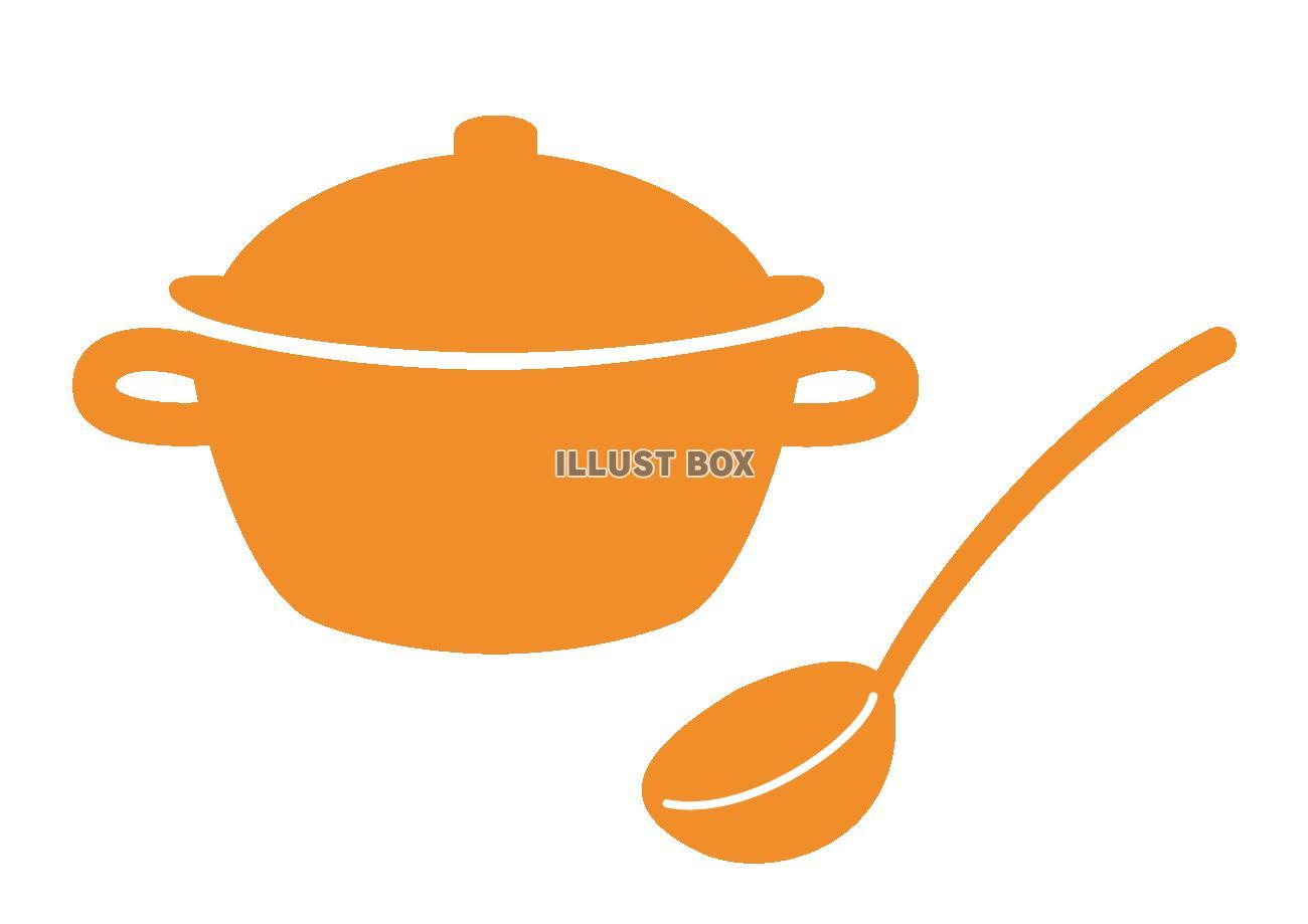 無料イラスト 鍋とお玉