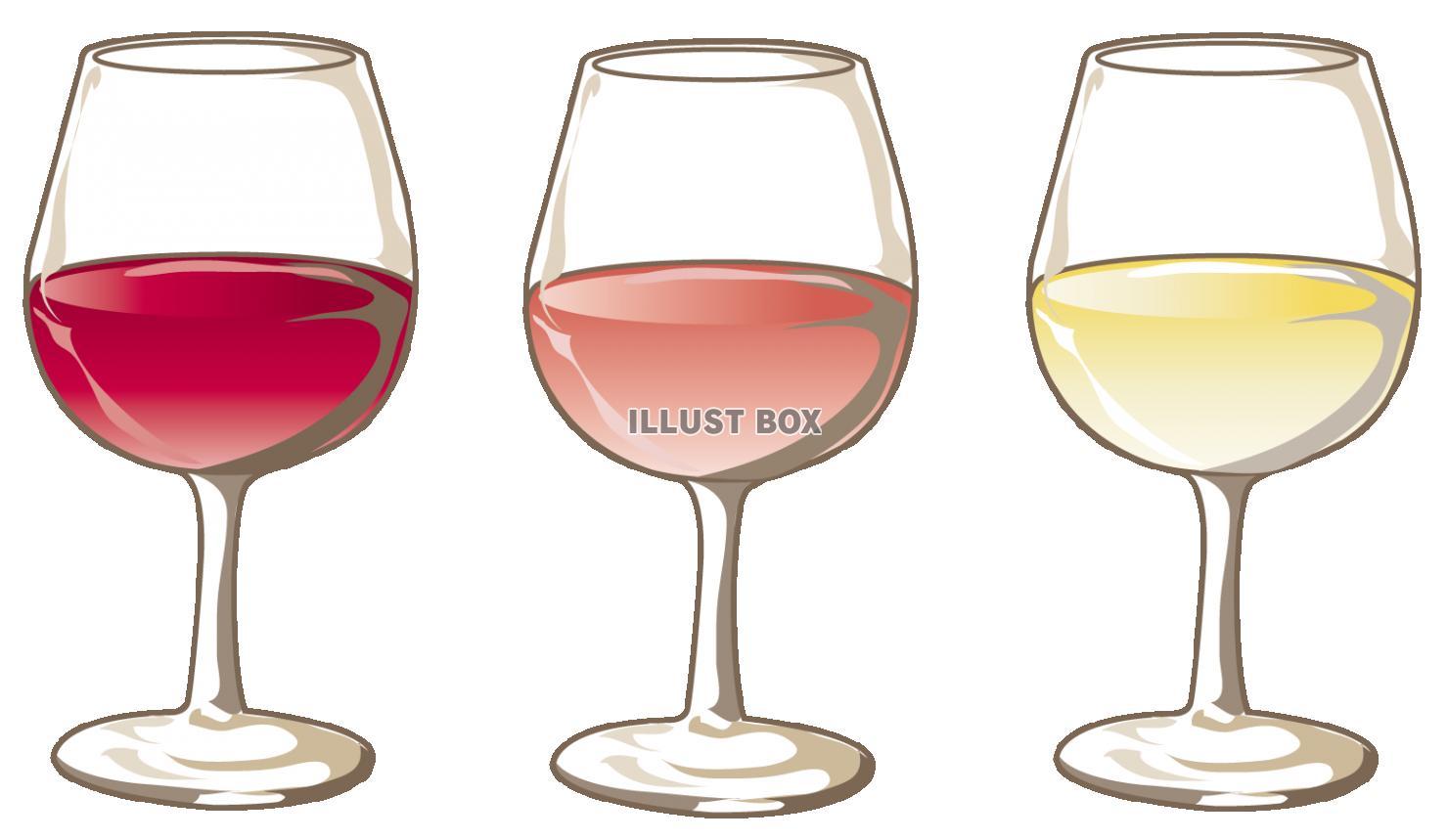無料イラスト ワイン グラス 3種類