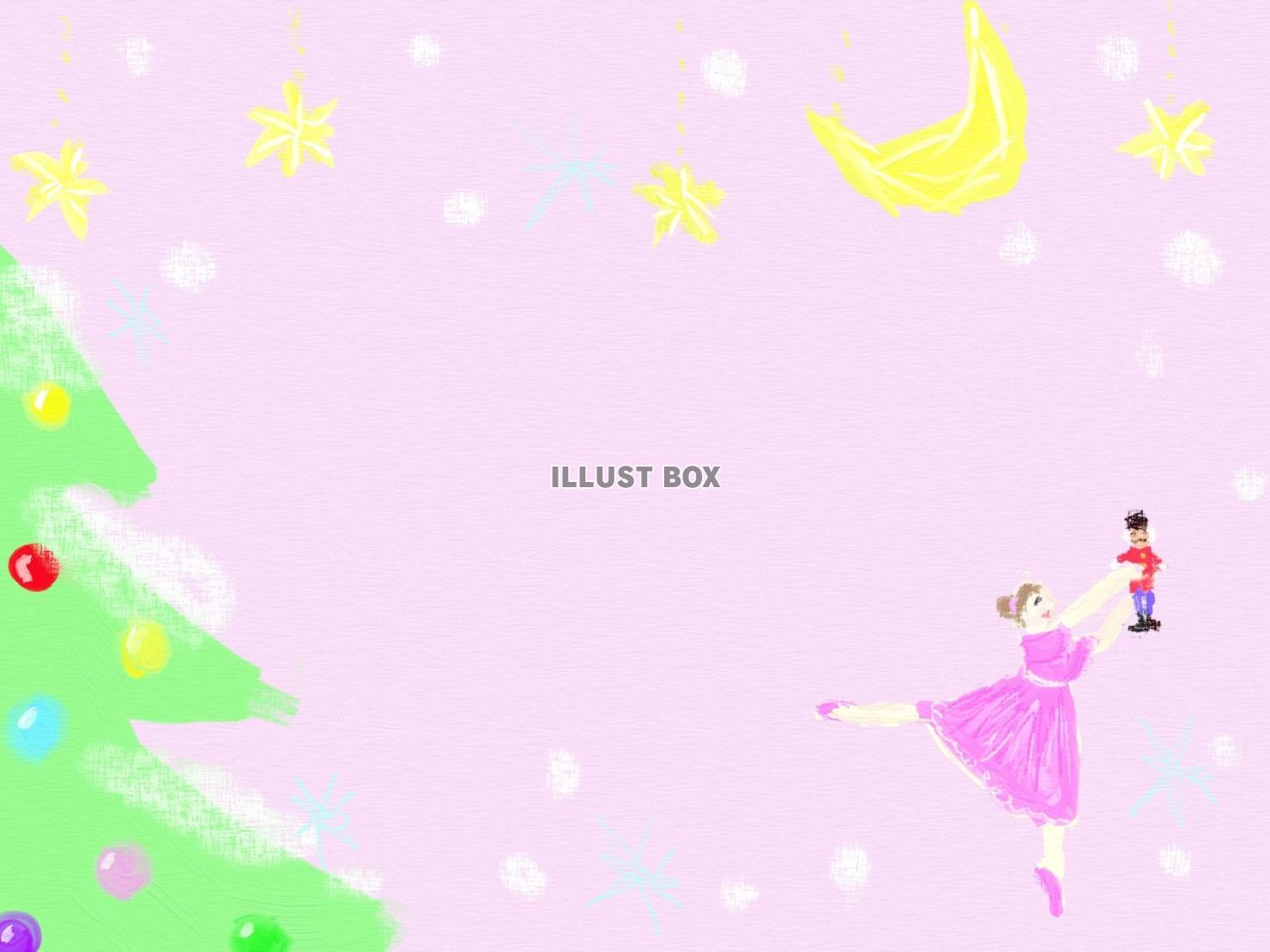 無料イラスト バレエのフレーム くるみ割り人形