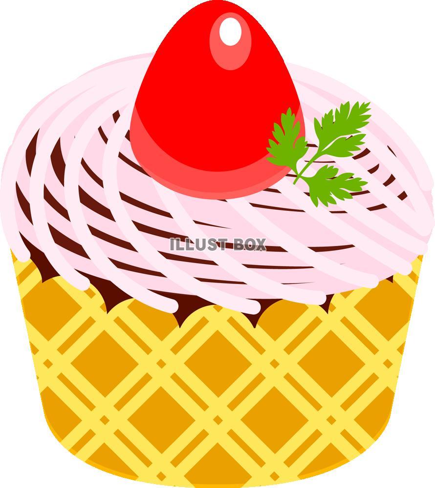無料イラスト いちごカップケーキpngcseps