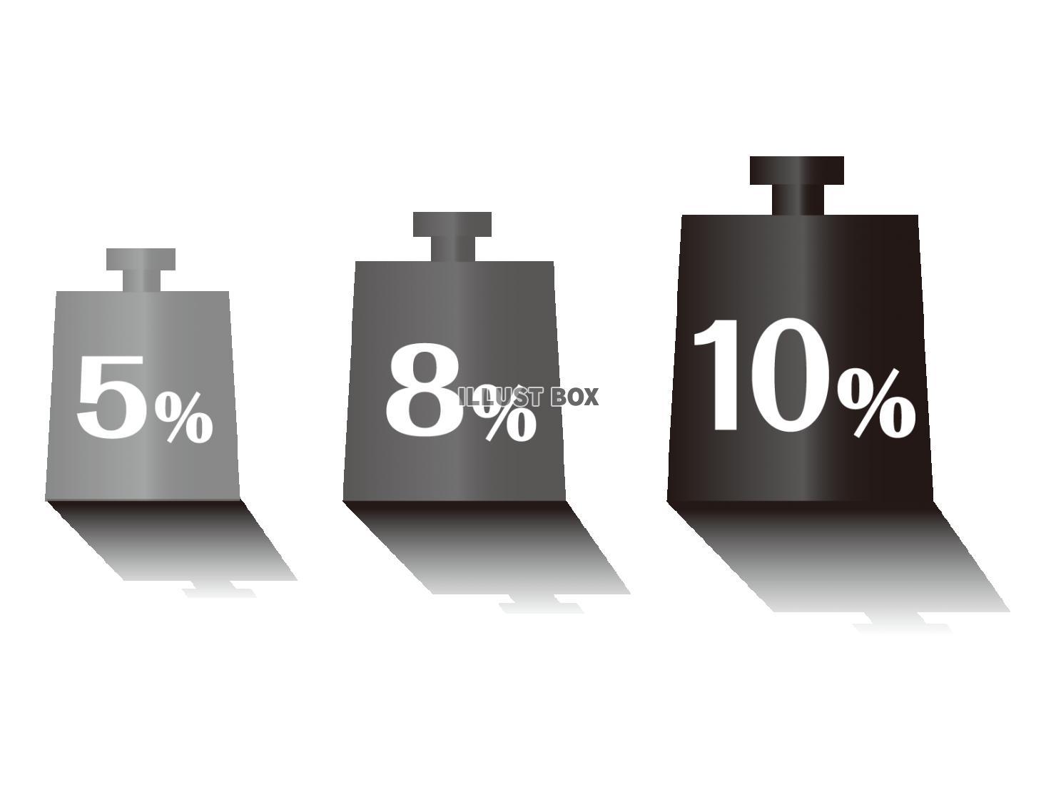無料イラスト 消費税 増税