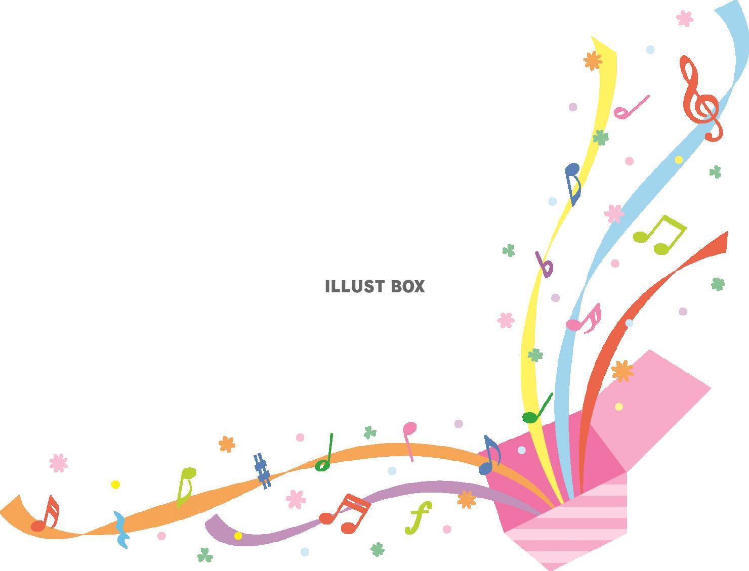 無料イラスト 音楽のびっくり箱