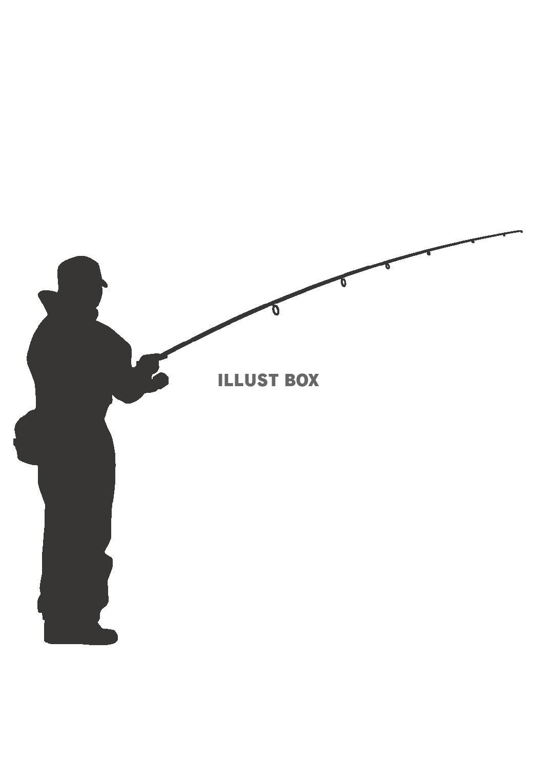 無料イラスト 釣り人