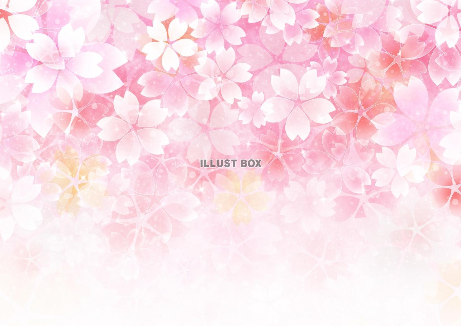 無料イラスト a4高画質桜の背景(jpgのみ)